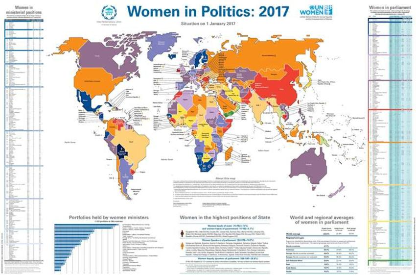 New IPU and UN Women Map shows women's representation in