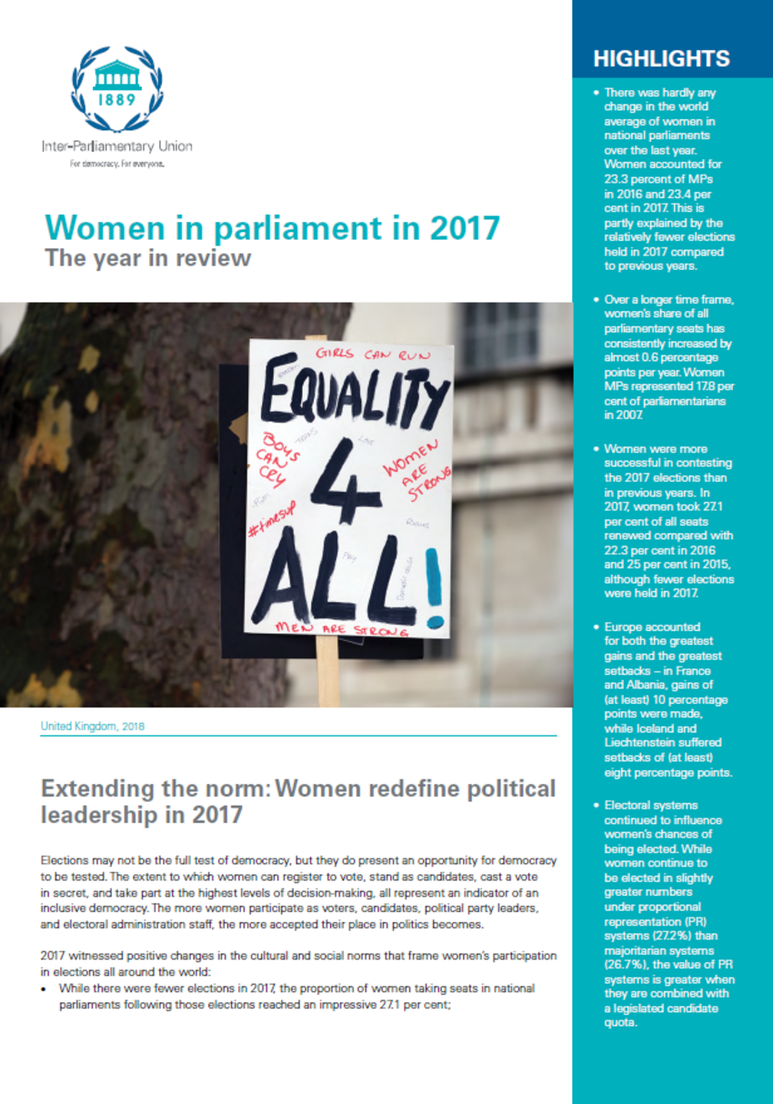 A quick guide commission on the status of women 2018 csw62 women in parliament in 2017 the year in review fandeluxe Image collections