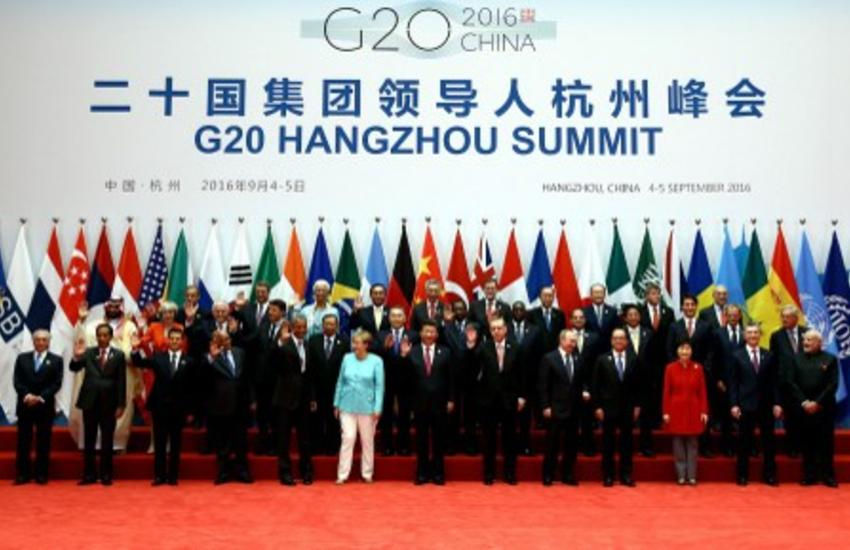 Leaders pose for a family photo during the 11th G20 Leaders' Summit in Hangzhou, China on September 4, 2016.