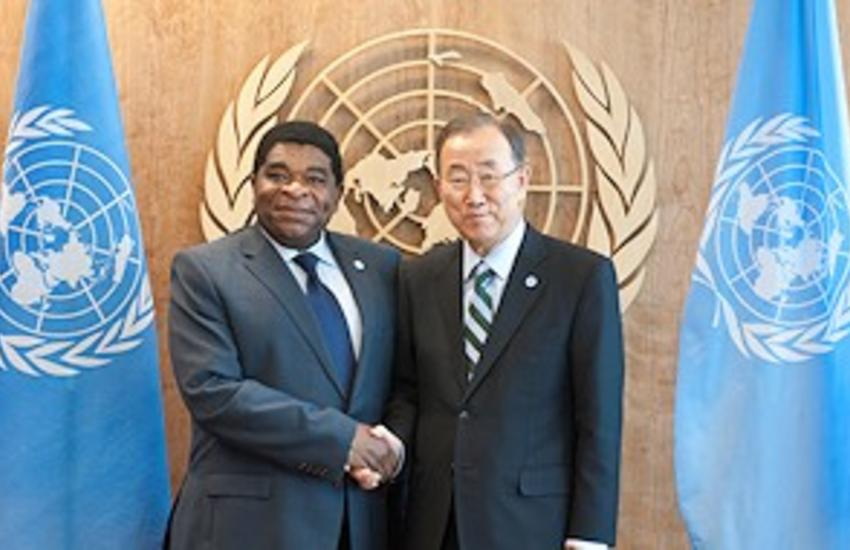 UN Secretary-General Ban Ki-moon and IPU Secretary General Martin Chungong