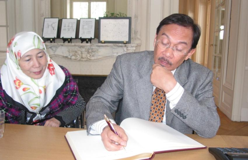 Anwar Ibrahim and Mrs. Ibrahim at the IPU