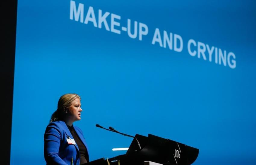 Former Swedish MP Ulrika Karlsson at the launch of the IPU/PACE report in October. ©IPU/P. Albouy