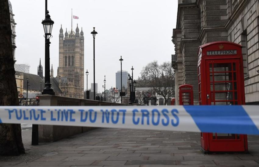 A police security cordon remains around the Houses of Parliament on March 23, 2017 in London.