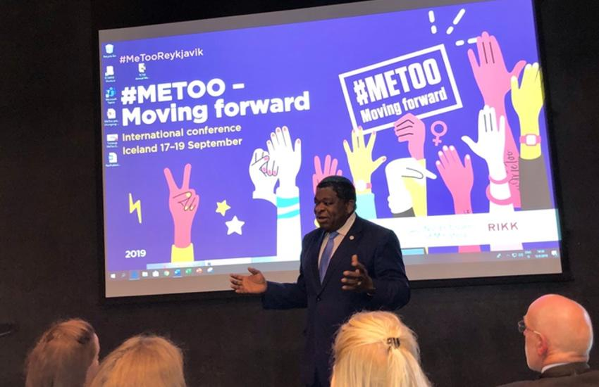Martin Chungong at MeToo conference in Iceland
