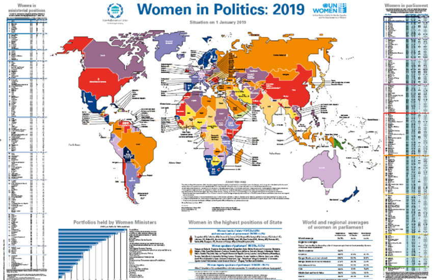 Women in Politics 2019 map