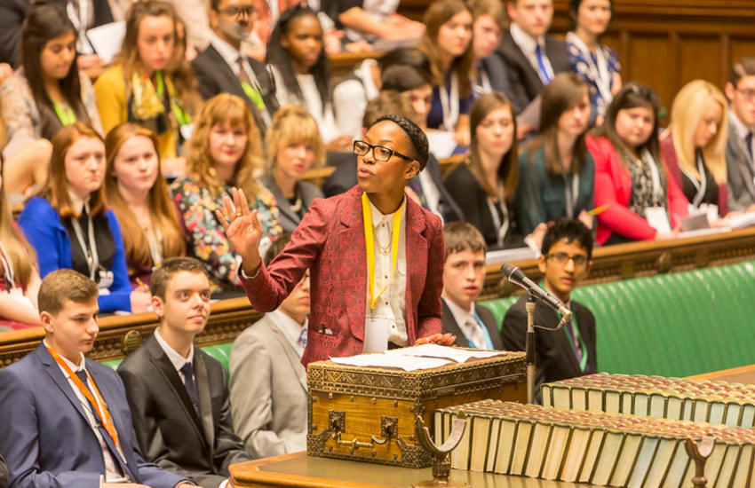 Youth parliament in the UK