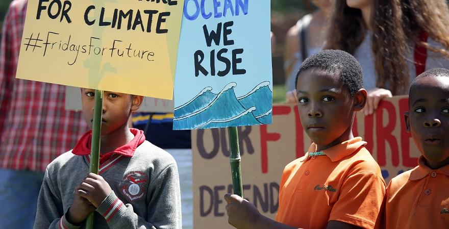 children at climate change demonstration
