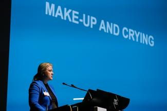 Former Swedish MP Ulrika Karlsson at the launch of the IPU/PACE report in October
