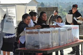 Mexican polling booth