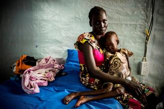 Victims of famine in South Sudan