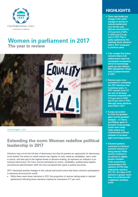 Women In Parliament In 2017 The Year In Review Inter