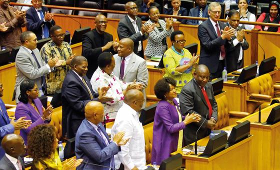 The South African parliament in session. © AFP/Pool/Mike Hutchings