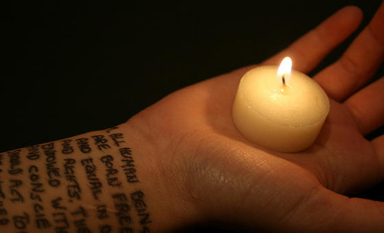 Human rights candle