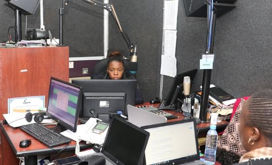 Radio studio of National Assembly of Zambia